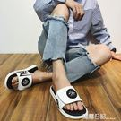 拖鞋男潮新款韓版時尚魔術貼個性室外穿運動厚底防滑一字拖 露露日記