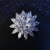 大氣奢華韓國胸針女鑽胸花絲巾披肩扣時尚外套開衫別針大衣配飾品  電購3C