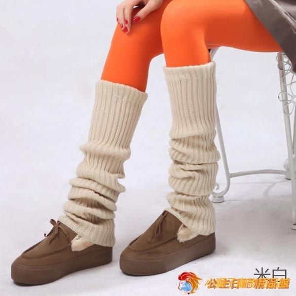 長襪女保暖護腿套秋冬加厚襪套日系學院風長筒襪堆堆過膝寬鬆毛線【公主日記】【小獅子】