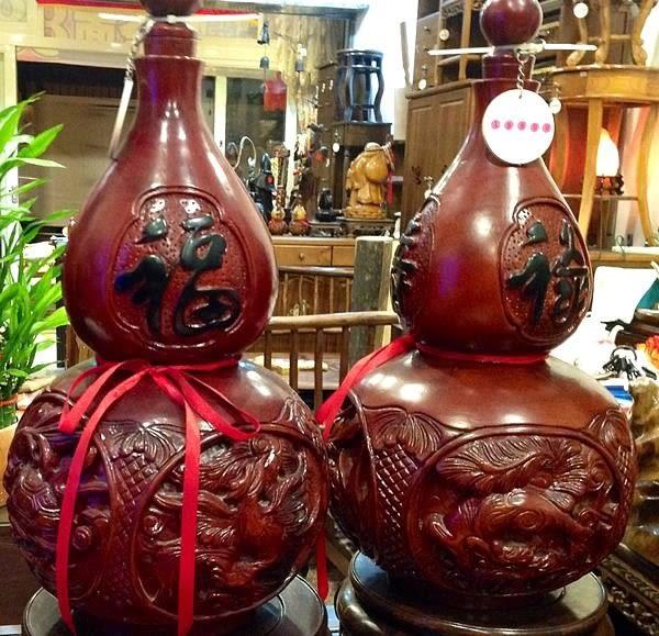 8號店鋪 越南花梨木雕葫蘆42.8x27cm
