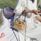 果凍錬條手提小包包新款潮質感透明斜背包包女包夏洋氣單肩包【全館免運】