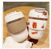 咖啡杯 網紅水杯女簡約雙飲奶茶杯便攜塑料隨手杯子女可愛帶吸管咖啡杯男 非凡小鋪