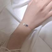新品 銀宇宙星空星球手鍊簡約個性設計感小眾學生手環韓版閨蜜飾品女