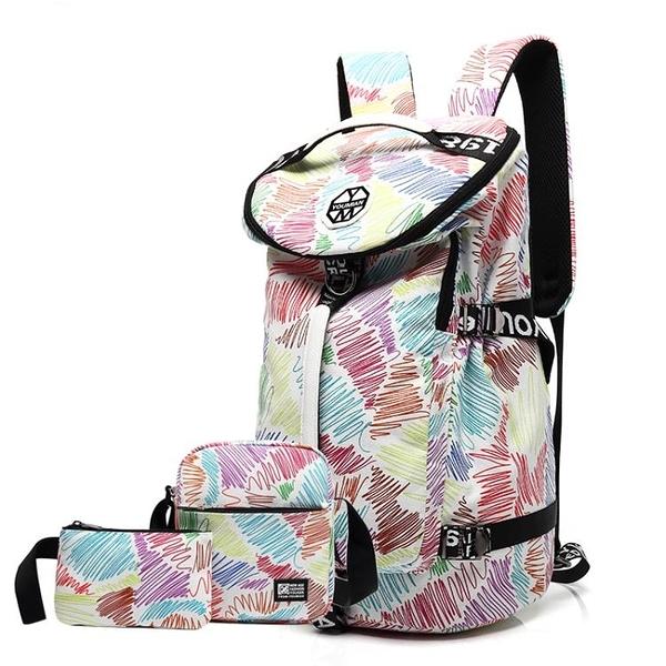 大容量旅行背包女後背包運動初中學生書包帆布登山包輕便旅游包男 黛尼時尚精品