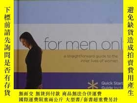 二手書博民逛書店For罕見Men Only:A Straightforward