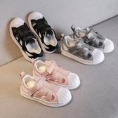 包頭防踢夏季兒童涼鞋透氣軟底中大童女童運動涼鞋寶寶1-3歲