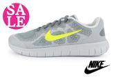 Nike FREE跑步鞋 大童(女段)  輕量 透氣 運動鞋 零碼出清 N7122#灰色◆OSOME奧森童鞋