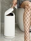 垃圾桶衛生間廁所家用廚房客廳創意臥室有帶蓋按壓式夾縫大號紙簍 安妮塔小铺