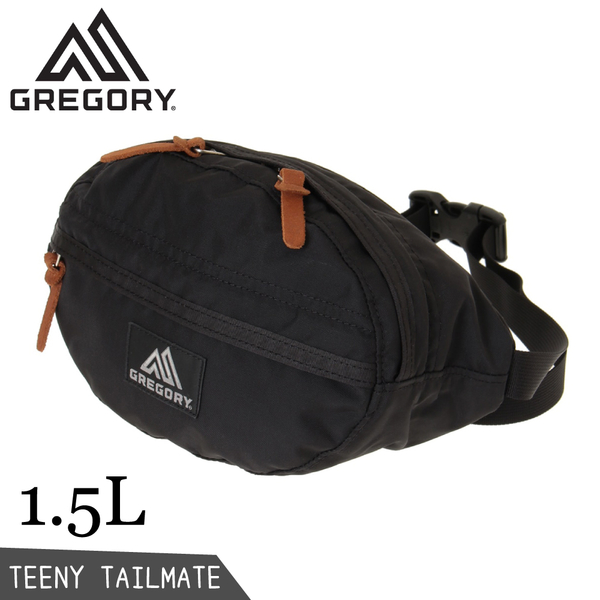 【GREGORY 美國 Teeny Tailmate 腰包《黑》1.5L】119651/肩背包/側背隨身包/臀包/運動