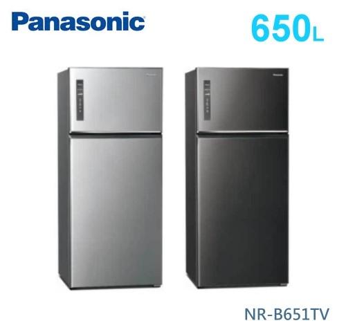 【佳麗寶】-留言加碼折扣(Panasonic國際牌)650公升雙門冰箱 NR-B651TV