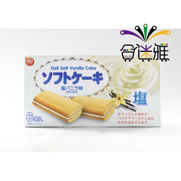 DELI-薄鹽香草風味夾心蛋糕(108g/盒)X1盒【合迷雅好物超級商城】 -01