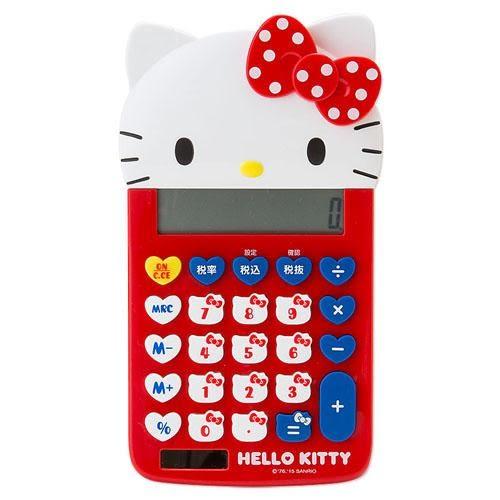 Hello Kitty  日本正版 凱蒂貓新品 大頭粉嫩計算機 該該貝比日本精品 ☆