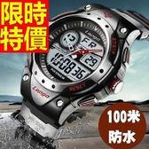 運動手錶-防水百搭休閒電子腕錶6色61ab1【時尚巴黎】