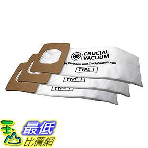 [106美國直購] 3 Hoover HEPA Style Type I High Efficiency Allergy Filtration Vacuum Bags UH30010COM, SH10000