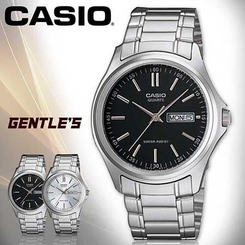 CASIO手錶專賣店 卡西歐 MTP-1239D 男錶 礦物防刮玻璃 不鏽鋼外殼 三折式不鏽鋼錶帶