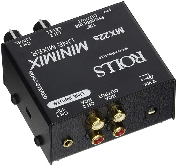 【音響世界】美國ROLLS MX22s 兩軌RCA/3.5mm Stereo MiniMix (Made in USA)含稅保固