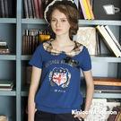 【Kinloch Anderson 金安德森女裝】格紋領片印花上衣(假兩件 蕾絲 圓領)