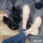 英伦皮鞋女軟妹ins百搭韓版復古平底中跟洛麗塔單鞋厚底女鞋 qw4590『俏美人大尺碼』