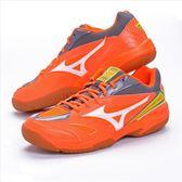 樂買網 MIZUNO 18SS 基本款 排羽球鞋 GATE SKY 71GA174054 橘x灰