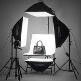 led小型攝影棚套裝手機拍照燈柔光箱拍攝道具器材人像補光燈  極客玩家  igo