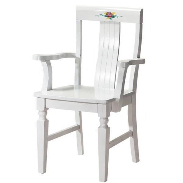 餐椅 CV-767-6 玫瑰白色餐椅 (有扶手)【大眾家居舘】