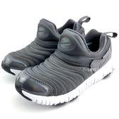 《7+1童鞋》中童  NIKE DYNAMO FREE SE (PS)  輕量  毛毛蟲鞋  運動鞋  F816 灰色