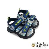 【樂樂童鞋】【台灣製現貨】MIT迷彩兒童涼鞋-藍 C029 - 現貨 台灣製 男童鞋 女童鞋 涼鞋 沙灘鞋