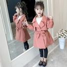 冬季新款過季女童風衣外套春秋裝新款韓版兒童中長款中大童秋款洋氣外套潮 完美計畫
