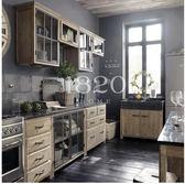 碗櫃-loft北歐鄉村櫥櫃灶台櫃大理石實木可拆組合櫥櫃精品整體櫥櫃組合【閒居閣】
