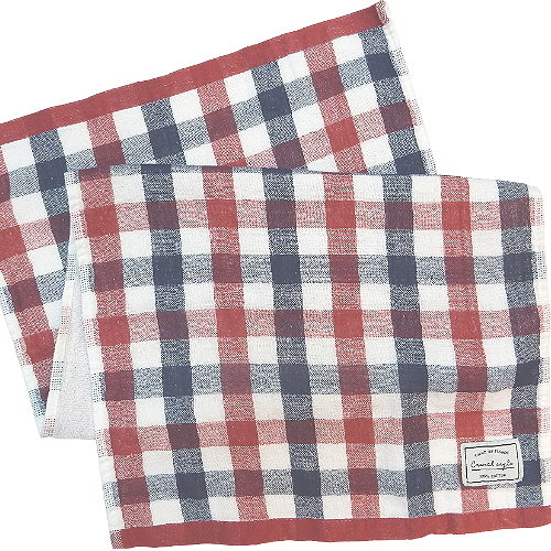 【波克貓哈日網】居家長巾◇Casual style◇《33 x 80cm》紅藍格