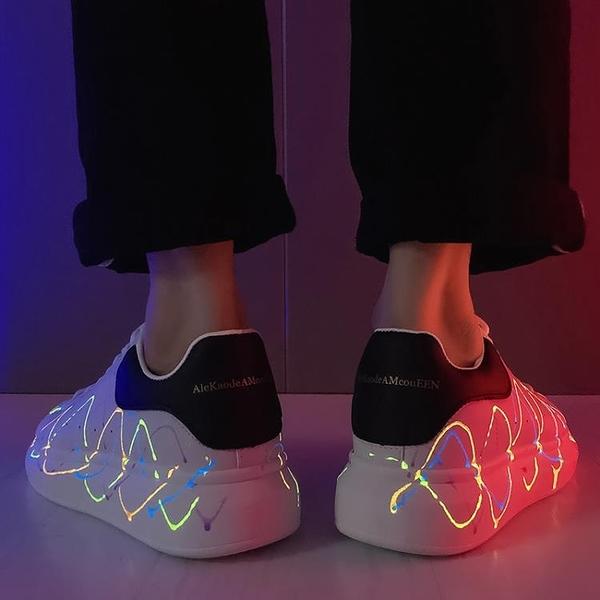 小皮鞋 冬季2020新款韓版潮流板鞋小白情侶皮鞋休閑潮鞋青少年百搭男鞋【快速出貨】