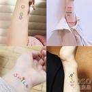 紋身貼手指貼表情持久防水可愛手腕貼紙60張 『洛小仙女鞋』