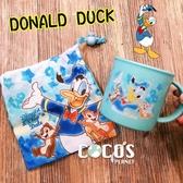 迪士尼水杯 唐老鴨 奇奇蒂蒂 漱口杯 杯子 水杯 塑膠杯 附束口袋 COCOS MS199