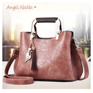 手提包-復古雲紋高質感耐磨抗刮流蘇斜背包 (SBA0284) AngelNaNa