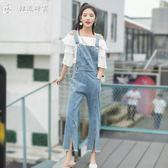 吊帶褲牛仔吊帶褲女學生韓版新款秋裝寬鬆顯瘦可愛小清新褲子吊帶褲