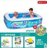 兒童充氣游泳池嬰兒家用海洋球池加厚版 st544『伊人雅舍』