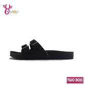 TWO BOSS拖鞋 女拖鞋 防水拖鞋 休閒拖鞋 可調整 MIT台灣製 H5982#黑色◆OSOME奧森鞋業