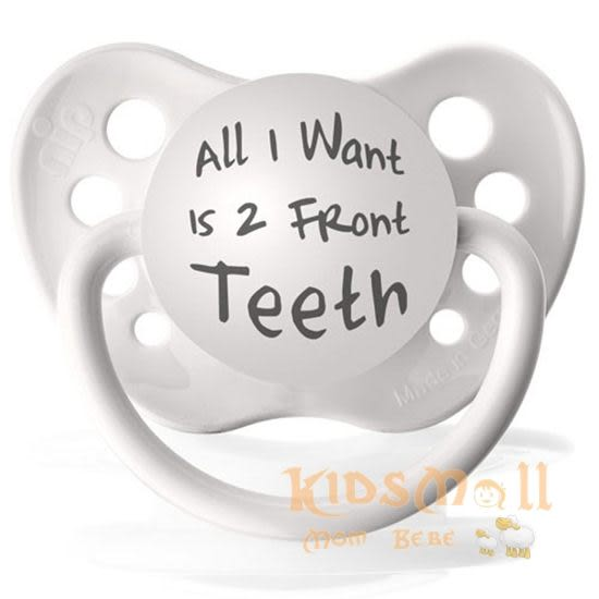 美國 Ulubulu ,個性化造型安撫奶嘴,德國製All I Want Is 2 Front Teeth
