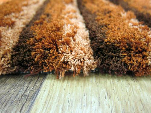 范登伯格 彩之舞 漸層條紋厚蓬地毯-咖07-50x150cm