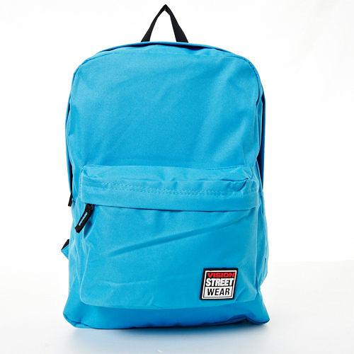 VISION STREET WEAR 潮牌時尚運動休閒尼龍雙肩後背包--水藍-- VB2032L