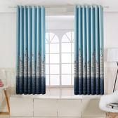 窗簾 小窗簾成品遮光窗簾布簡約現代遮陽飄窗兒童臥室平面窗客廳短簾