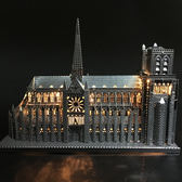 3D立體金屬拼圖巴黎聖母院diy手工拼裝模型成人玩具生日禮物創意