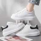 休閒男鞋 2021夏季新款小白鞋男韓版百搭潮流薄款透氣板鞋厚底增高休閒白鞋