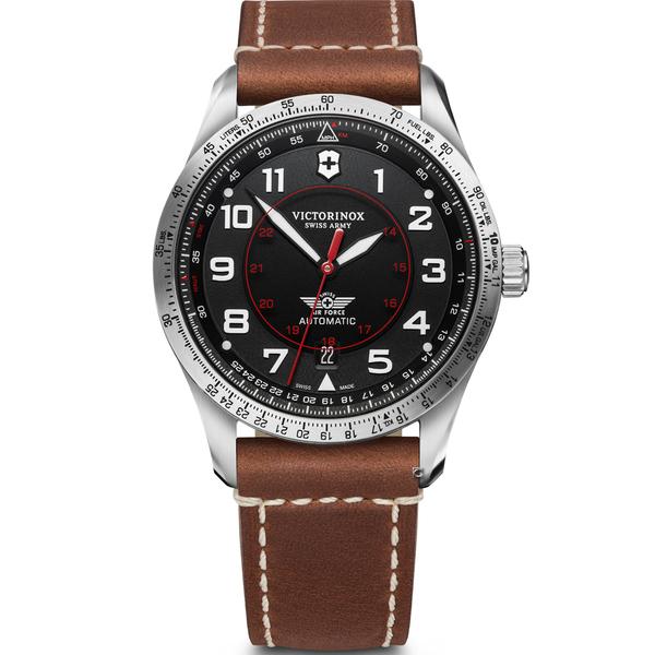 Victorinox 瑞士維氏 Airboss Black Edition 自動上鏈機械三針腕錶 VISA-241973