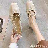 豆豆鞋 單鞋女夏款百搭韓版牛筋軟底芭蕾舞鞋溫柔仙女淺口網紅奶奶鞋 檸檬衣舍