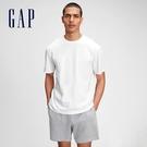 Gap男裝 基本款素色圓領短袖T恤 680985-白色