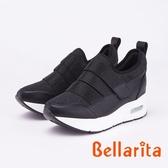 bellarita.魔鬼氈閃亮水鑽休閒運動鞋(9426-95黑色)