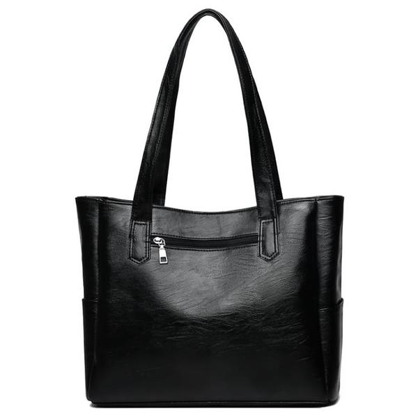 歐美潮女包時尚撞色托特包大容量簡約休閒單肩包百搭手提包包 - 古梵希
