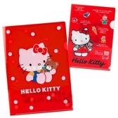〔小禮堂〕Hello Kitty 日製L 型文件夾組《2 入A4 紅》資料夾L 夾檔案夾45 週年 系列4901610 20639