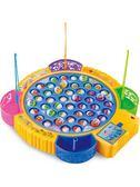 兒童磁性電動旋轉釣魚機 寶寶益智小貓釣魚套裝小孩1-3-6周歲玩具WY【好康八五折搶購】